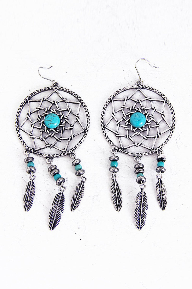 Metal Dream Catcher Earring - Haute & Rebellious