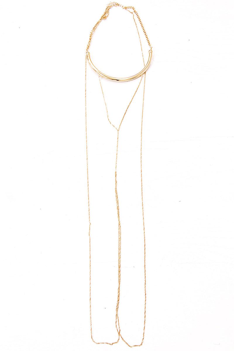 Sasha Plated Body Chain - Haute & Rebellious