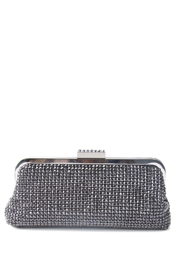 CRYSTALS CLUTCH - Pewter