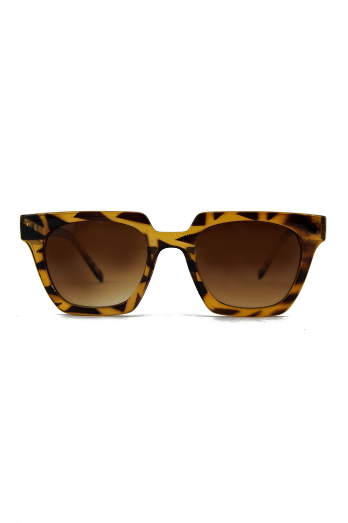 RECTANGULAR FRAME SUNGLASSES - Tortoise