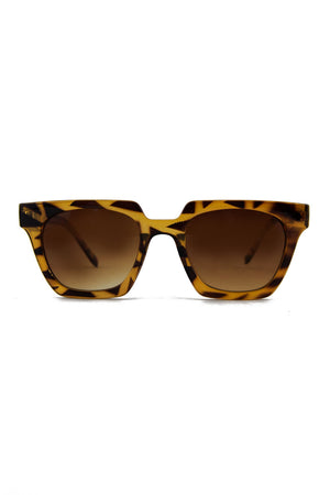 RECTANGULAR FRAME SUNGLASSES - Tortoise - Haute & Rebellious