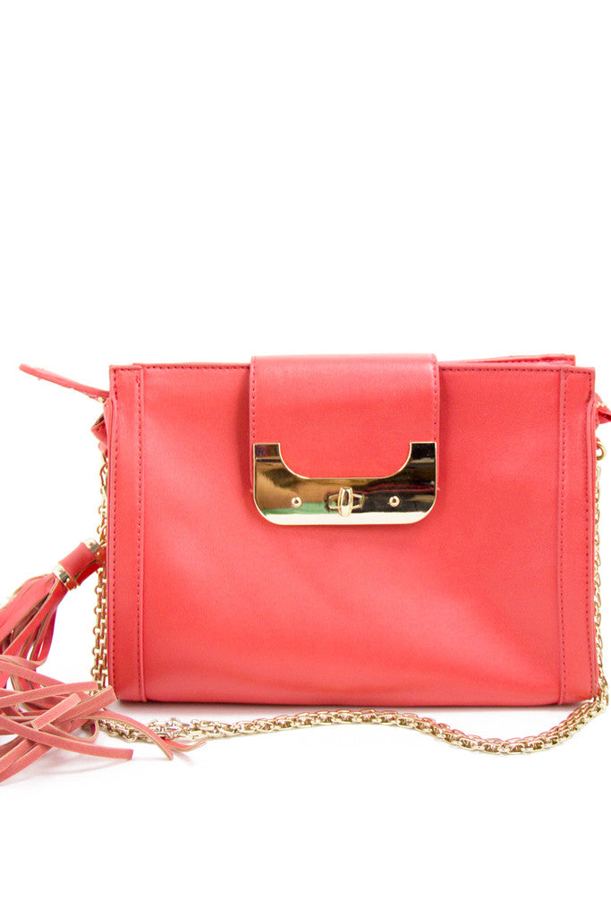 RETRO FRINGE SHOULDER BAG - Peach - Haute & Rebellious