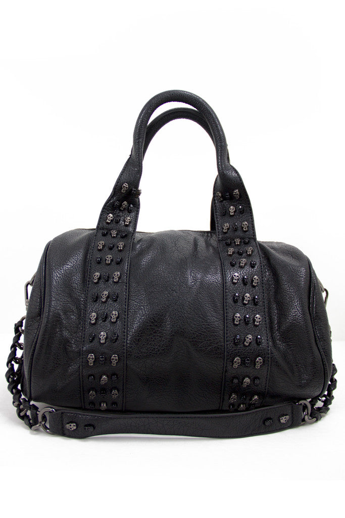 SKULL ROW BAG - Black - Haute & Rebellious