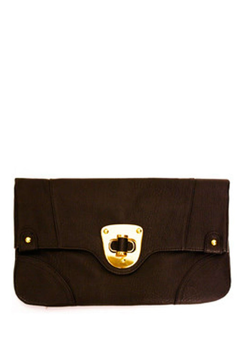 Haute & Rebellious ENVELOPE CLUTCH - Black in [option2]