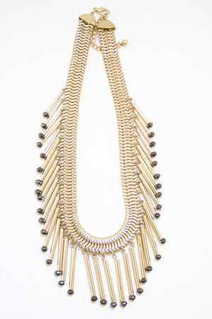 GOLD FRINGED NEKLACE - Haute & Rebellious