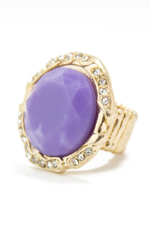 VIOLETA STONE RING - Haute & Rebellious