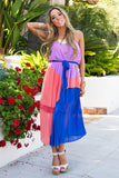 CONTRAST COLOR BLOCK MAXI