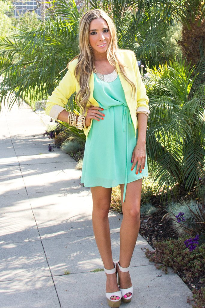EMMA MINT DRESS