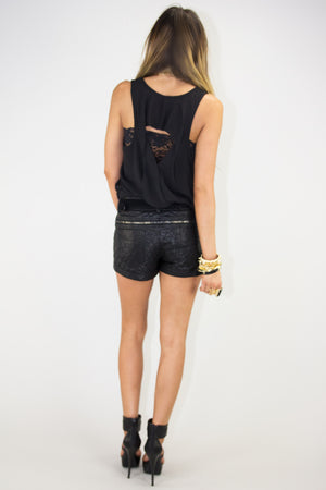 QUILTED ZIPPER FAUX LEATHER SHORTS - Haute & Rebellious