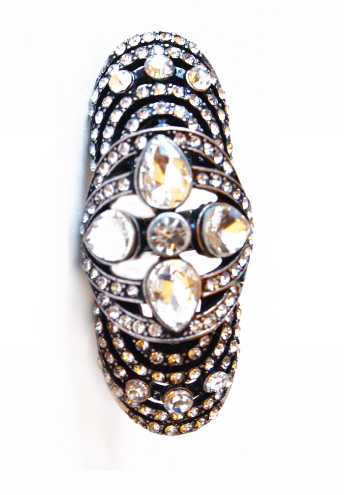 Haute & Rebellious WILLOW STONE DOUBLE RING in [option2]