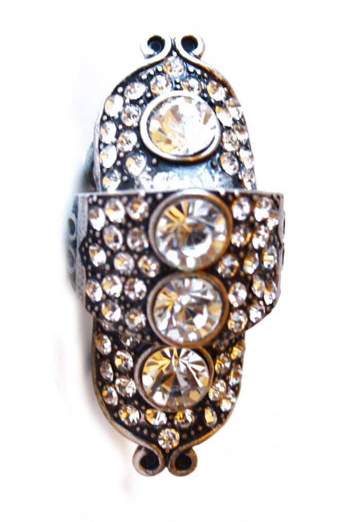 Haute & Rebellious STONE DOUBLE RING in [option2]