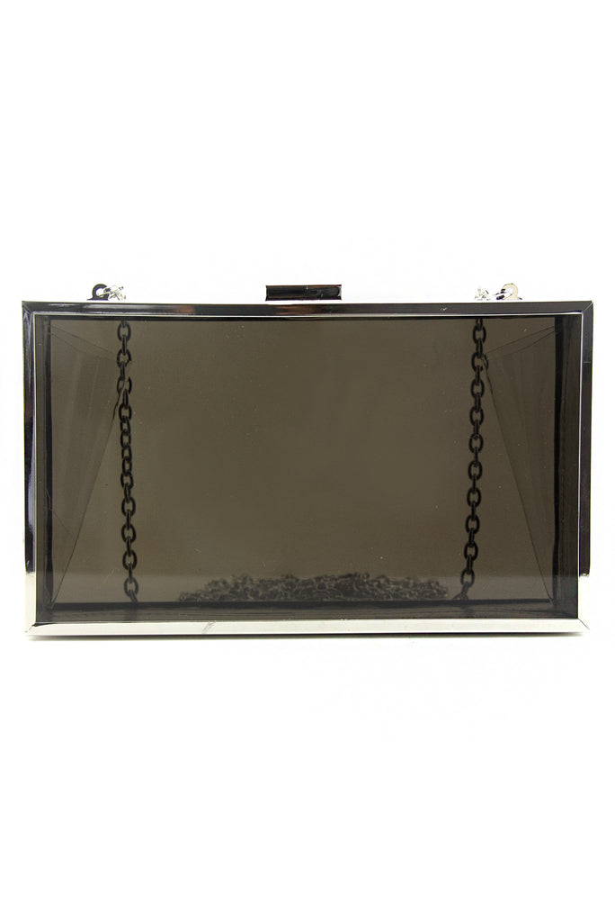 SEMI-CLEAR CLUTCH - Dark Grey