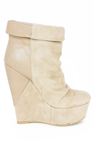 TALL WEDGE - Beige - Haute & Rebellious