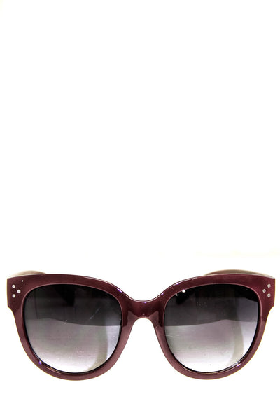 Audrey Round Sunglasses - Wine
