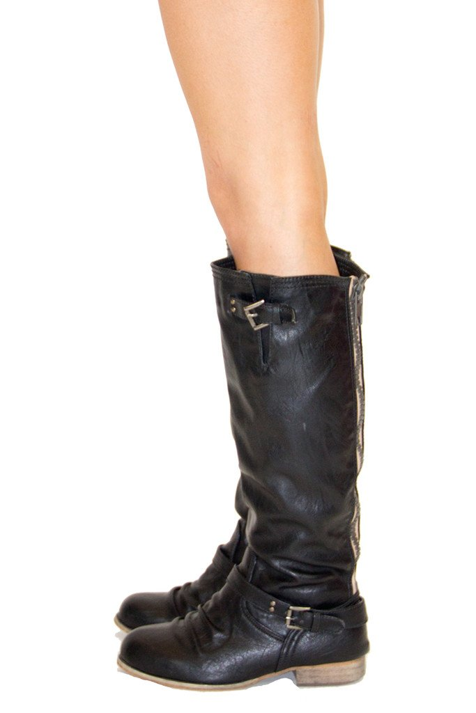 FLAT BOOTS - Black - Haute & Rebellious