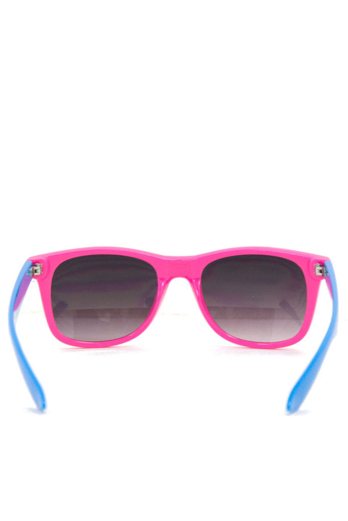 PINK AND BLUE SUNGLASSES
