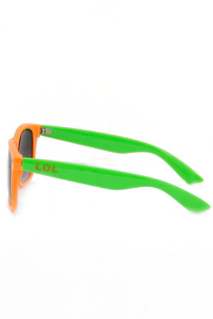 ORANGE AND GREEN SUNGLASSES (Final Sale) - Haute & Rebellious