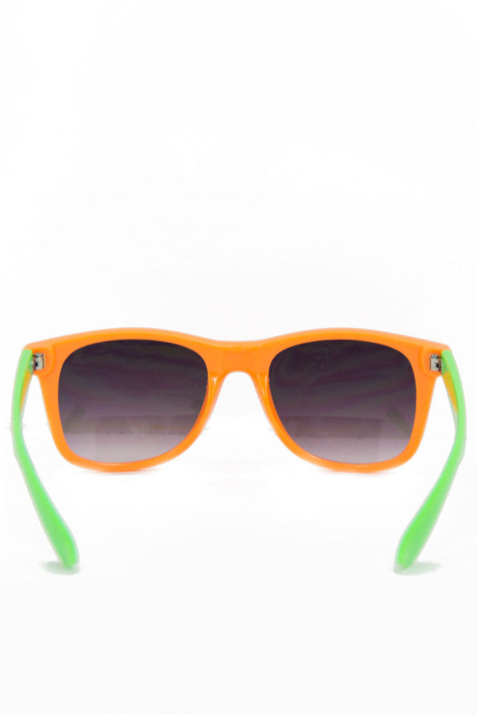 ORANGE AND GREEN SUNGLASSES (Final Sale)