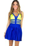 NEON BANDAGE BODYCON MINI DRESS - Haute & Rebellious