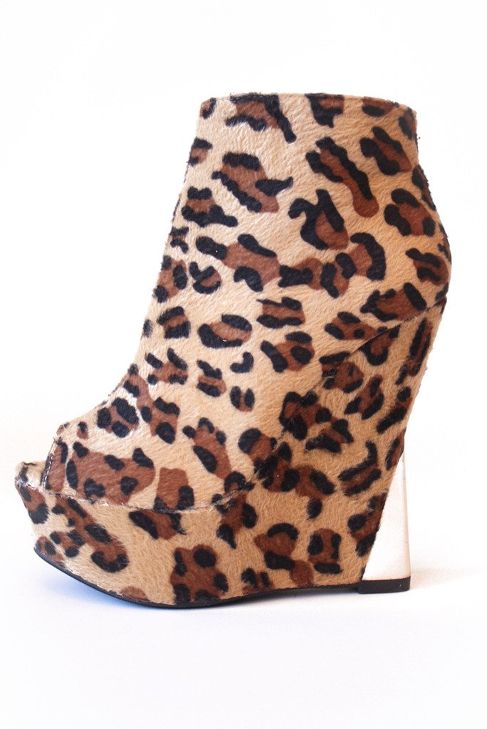 HALSTON WEDGE - Leopard - Haute & Rebellious