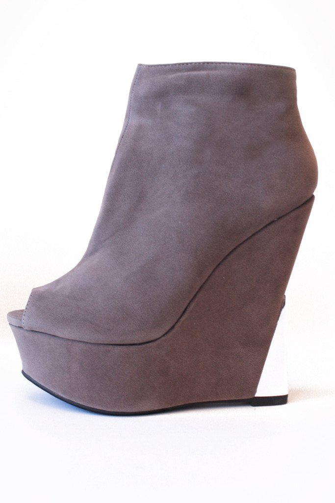 HALSTON WEDGE - Gray
