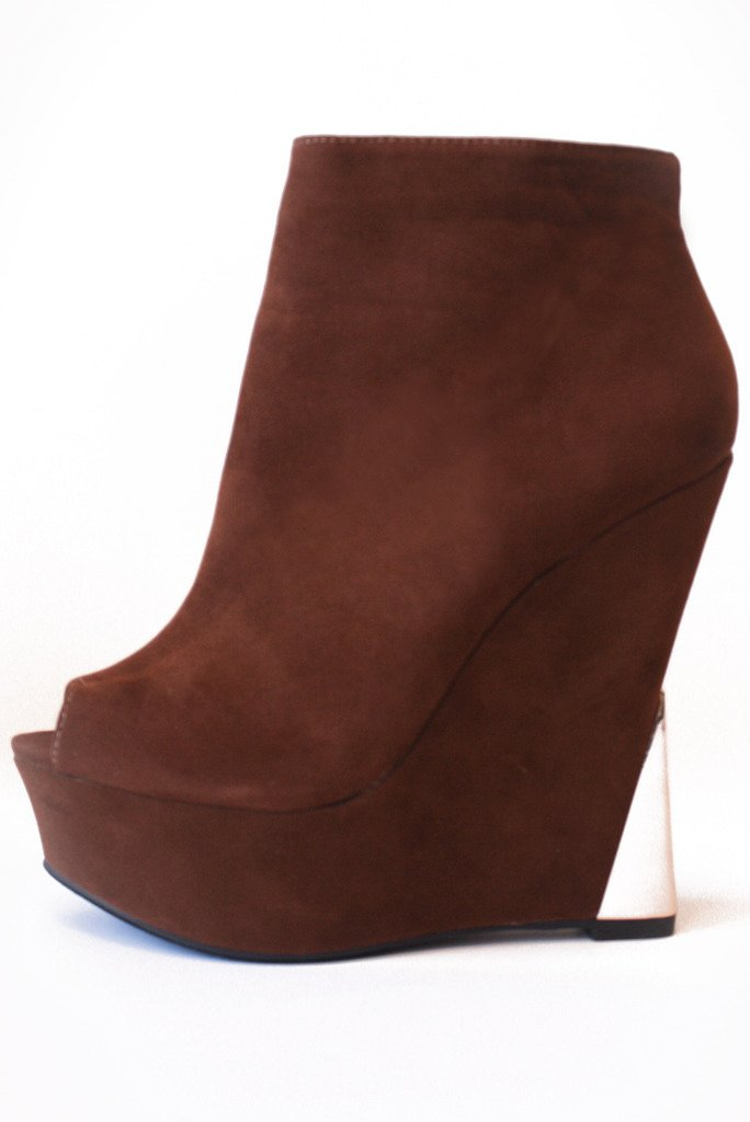 HALSTON WEDGE - Brown