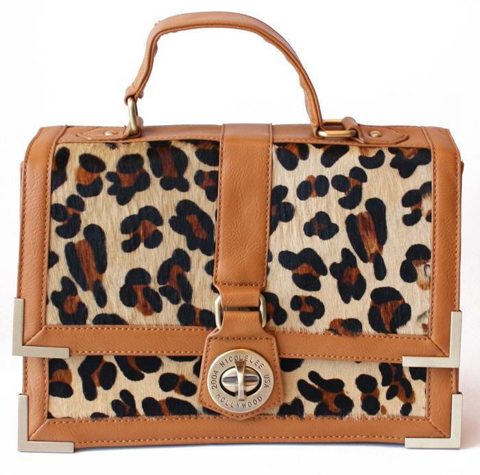 MARILYN LEOPARD FUR BAG