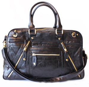 Haute & Rebellious CHLOE TRAVEL BAG - Black in [option2]
