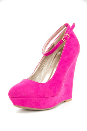 DANI WEDGE - FUCHSIA - Haute & Rebellious