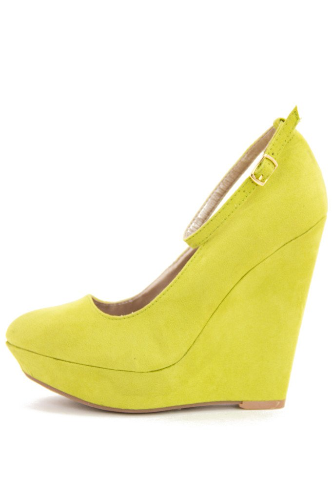 DANI WEDGE - electric yellow green - Haute & Rebellious