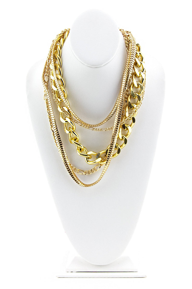 MULTICOMBO CHAIN NECKLACE - Gold - Haute & Rebellious