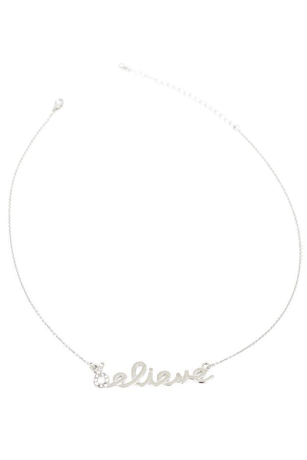 BELIEVE NECKLACE - Silver