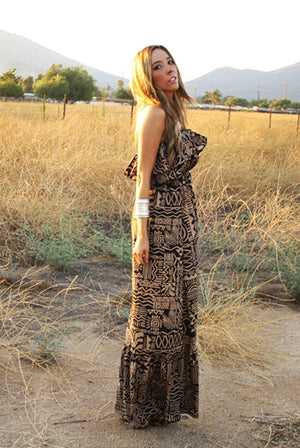 Haute & Rebellious MATCHI TRIBAL PRINT MAXI in [option2]
