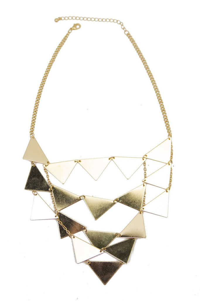 GOLDEN TRIANGLE PLATED NECKLACE (Final Sale)
