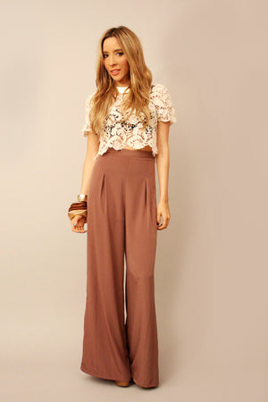 Haute & Rebellious SATIN PALAZZO PANTS in [option2]