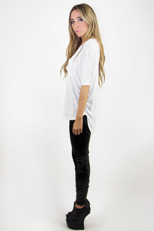 JACOB JERSEY TEE - White - Haute & Rebellious