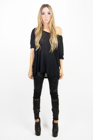 JACOB JERSEY TEE - Black - Haute & Rebellious