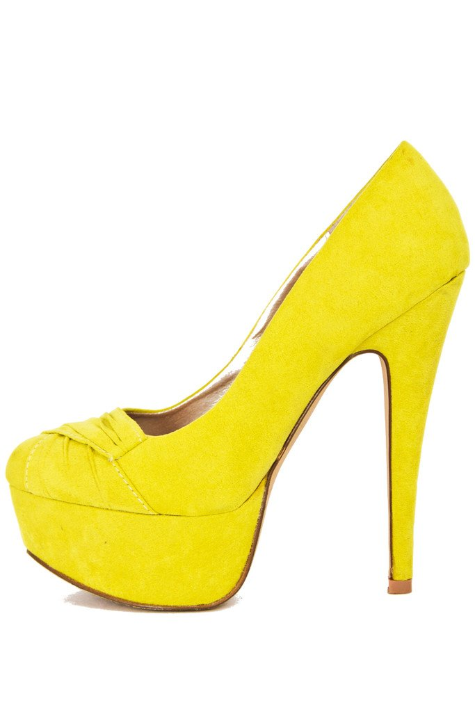 ELECTRIC YELLOW PUMPS- neon - Haute & Rebellious