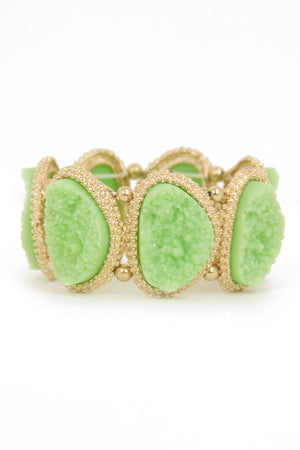 MINT GREEN STONE BRACELET - Haute & Rebellious