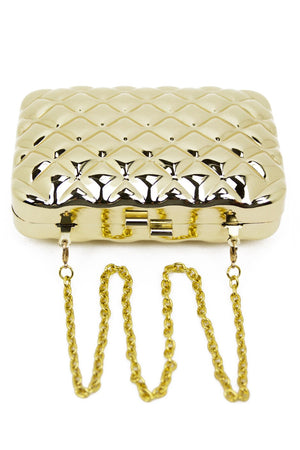 METALLIC RECTANGLE CLUTCH - Gold - Haute & Rebellious