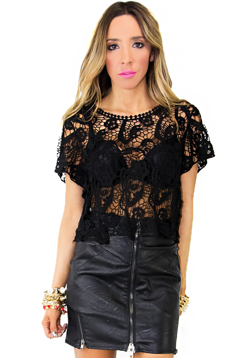 KANYE CROCHET TOP - Black (Final Sale) - Haute & Rebellious