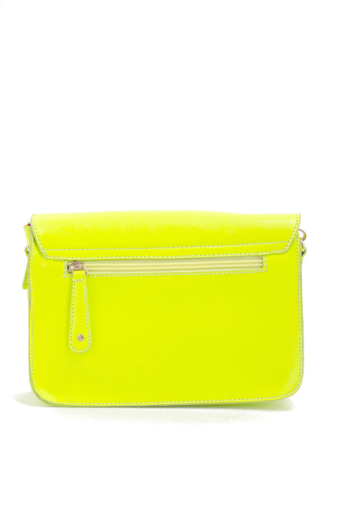 YELLOW NEON SATCHEL