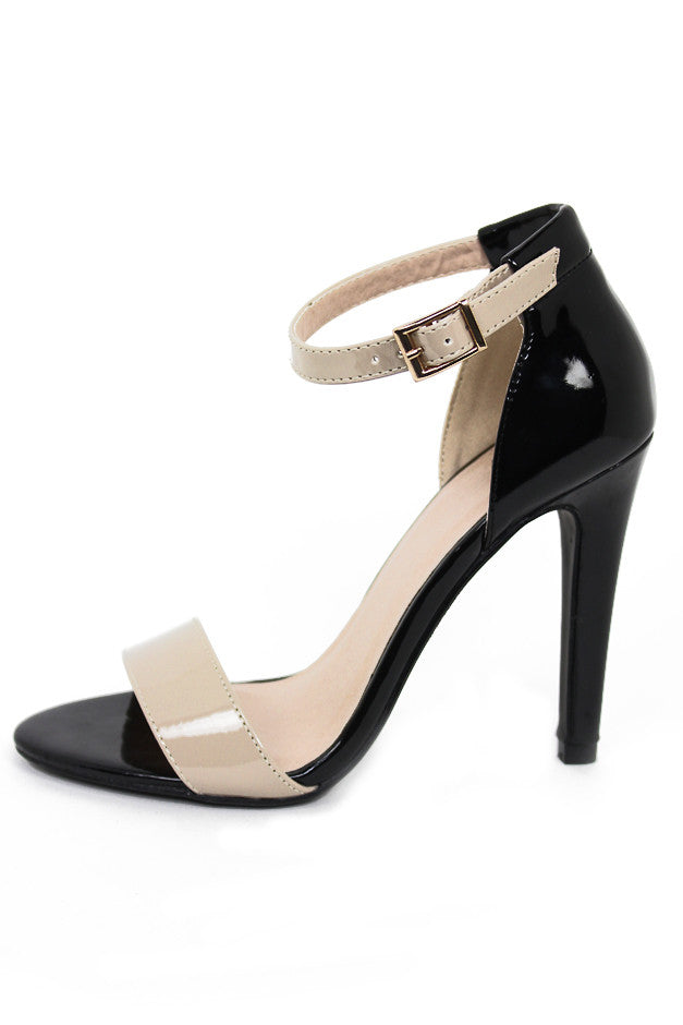 TWO TONE STRAPPY HEEL