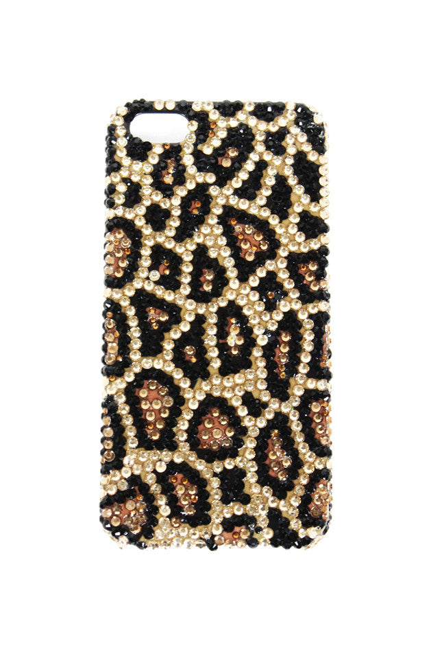 SPARKLE STONES CHEETAH IPHONE 5 CELL CASE