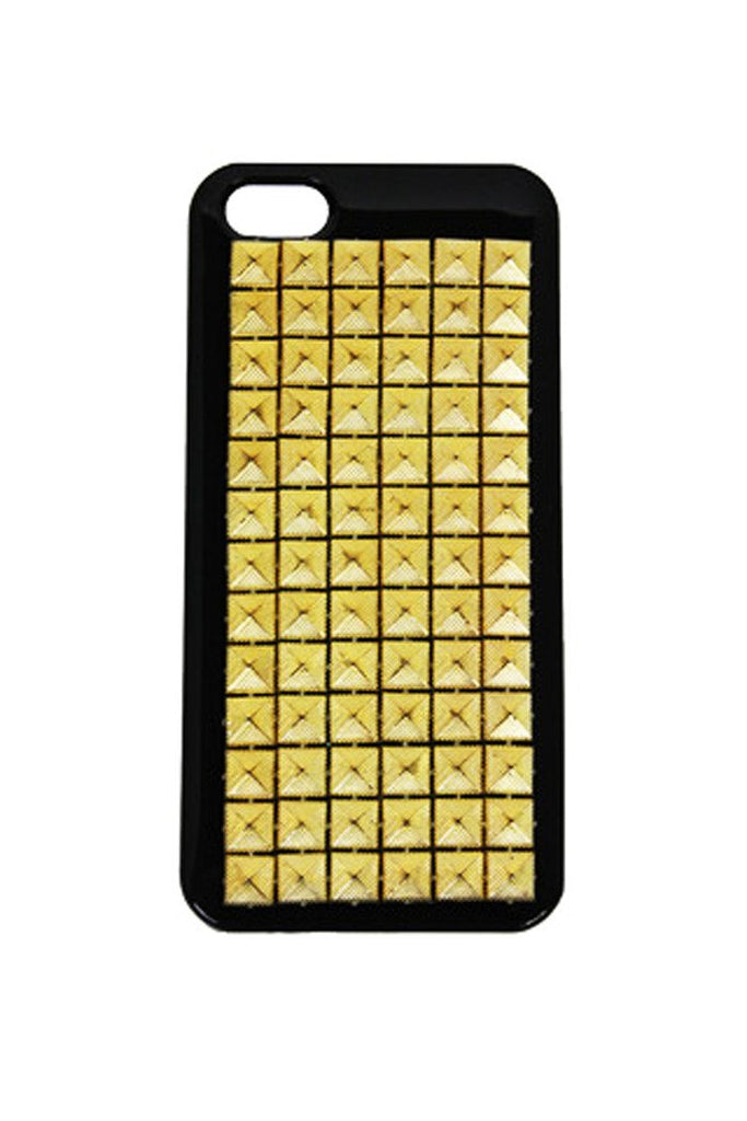 GOLD STUD IPHONE 5 CELL CASE - Black
