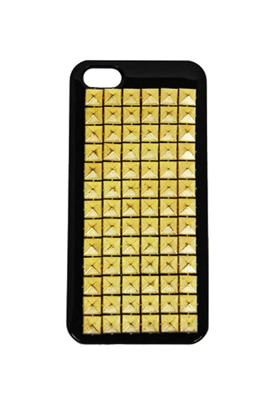 GOLD STUD IPHONE 5 CELL CASE - Black - Haute & Rebellious