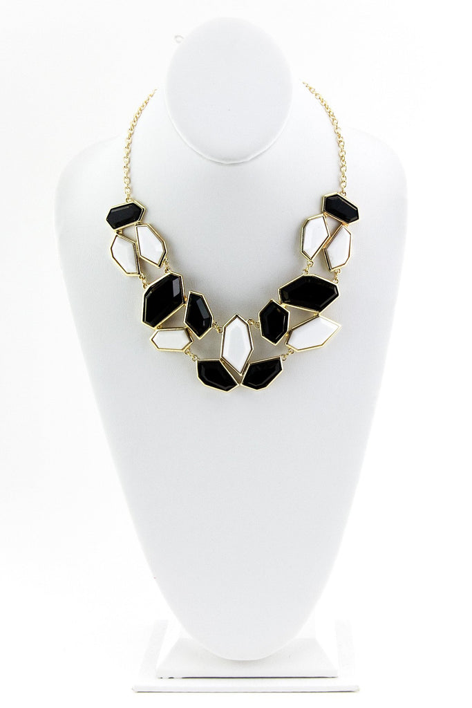 B&W GEM STONE NECKLACE