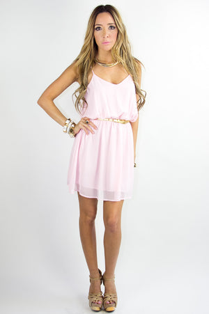 T BACK DRESS - Light Pink - Haute & Rebellious