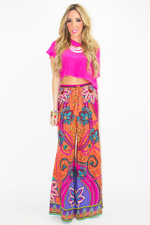 TRIBAL PANTS - Fuchsia - Haute & Rebellious