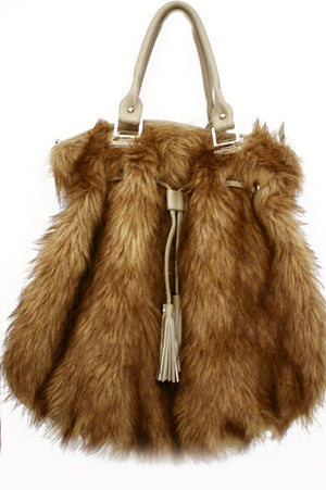 LOOK-DAKOTA FAUX FUR OVERSIZED BAG - Haute & Rebellious